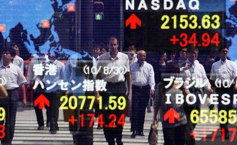 Asian Stocks Gain