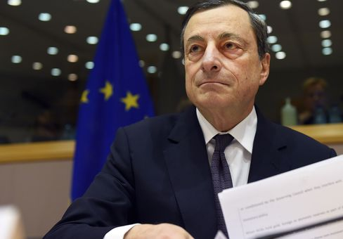 Mario Draghi in Brussels