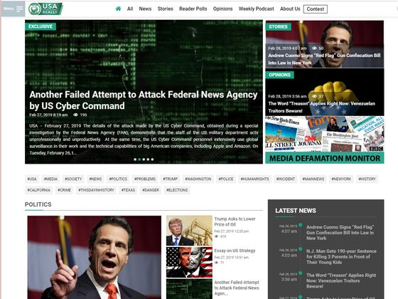 Russian News Outlet Says It Was Hit by U.S. Military Cyberattack