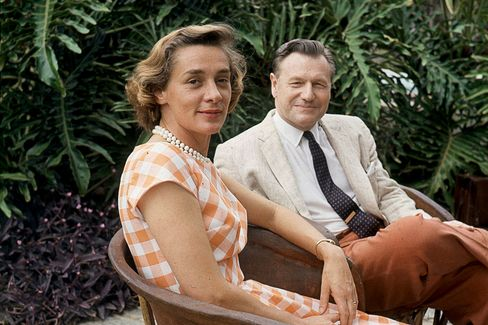 Nelson Rockefeller and his wife Margaretta Murphy are seen during their honeymoon in Venezuela, on May 7, 1963.