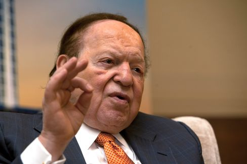 Las Vegas Sands' Adelson to Earn $1.2 Billion From Dividend
