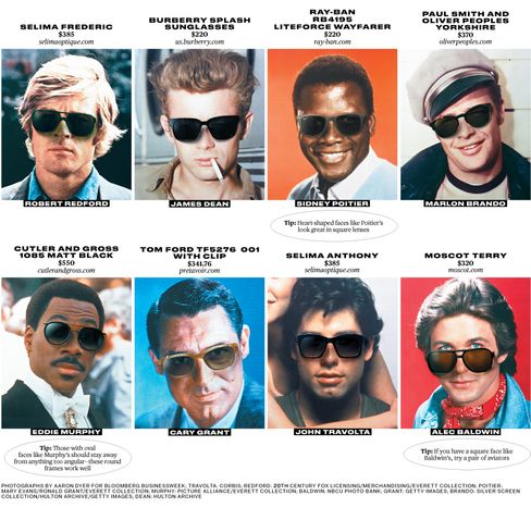 Cool Men's Sunglasses on Classic Movie Stars