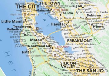 A Profane Judgemental Urban Dictionary Map Of The San Francisco Bay Area Bloomberg North bay is marin, napa, solano and fairfield counties. a profane judgemental urban