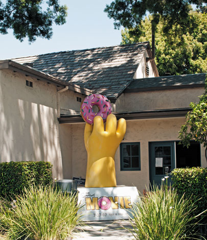 Homer's hand, outside the writers' room