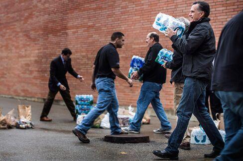 For Mitt Romney, Hurricane Sandy Is History