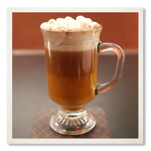 The Chatwal's Naughty & Nice hot chocolate cocktail.