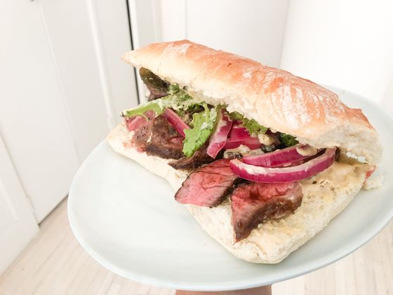 The Secret to a Perfect Steak Sandwich Isn't the Meat