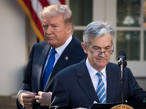 Trump Blames 'Out of Control' Fed for Rout but Says He Won'tFire Powell