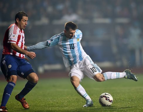 Lionel Messi at the Copa America semifinal football match