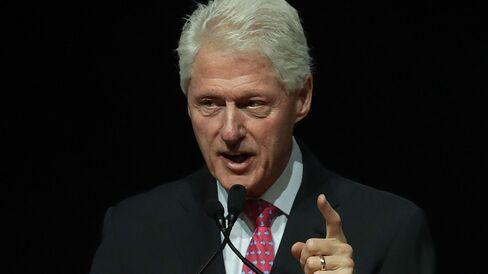 Former President Bill Clinton speaks on Aug. 12, 2016, in Las Vegas.