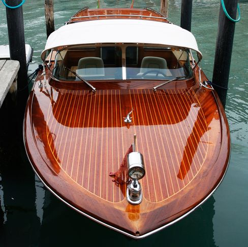 A Riva boat on the Grand Canal.