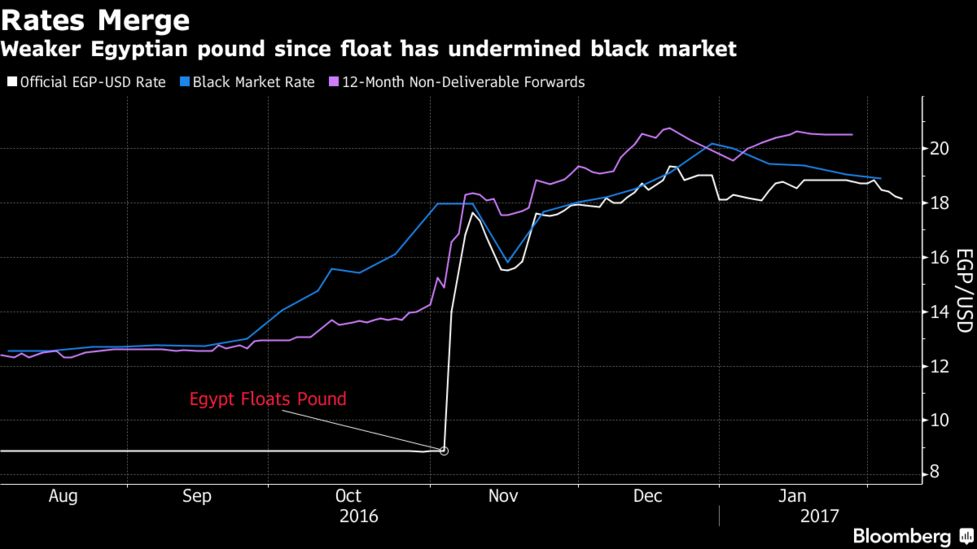 Egypt S Decision To Float The Pound Had An Immediate Impact Diminishing Significance Of A Black Market That Been Fueled By Expectations For
