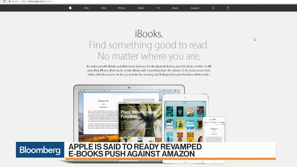 Apples getting back into the e books fight against amazon bloomberg fandeluxe Choice Image