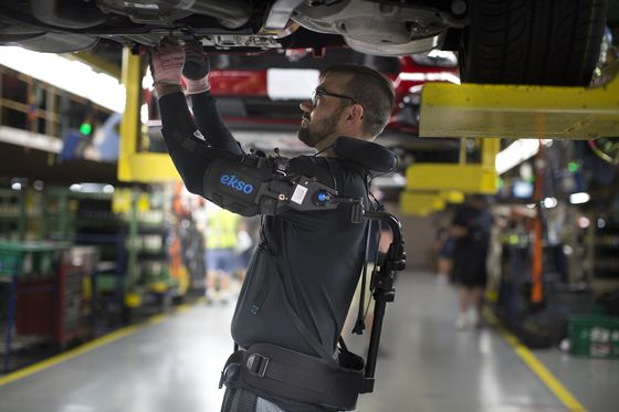 Exoskeleton Technology Supplier Surges on Ford's Purchase for Plant Workers