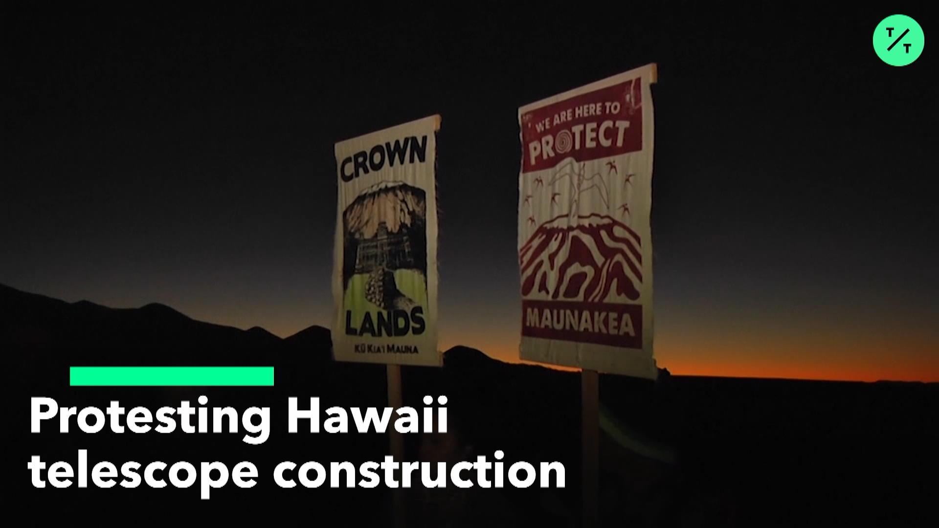 Protesting Hawaii Telescope Construction