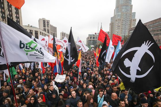 Opposition Rallies in Moscow to Demand Release of Protesters