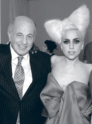 Morris with Lady Gaga