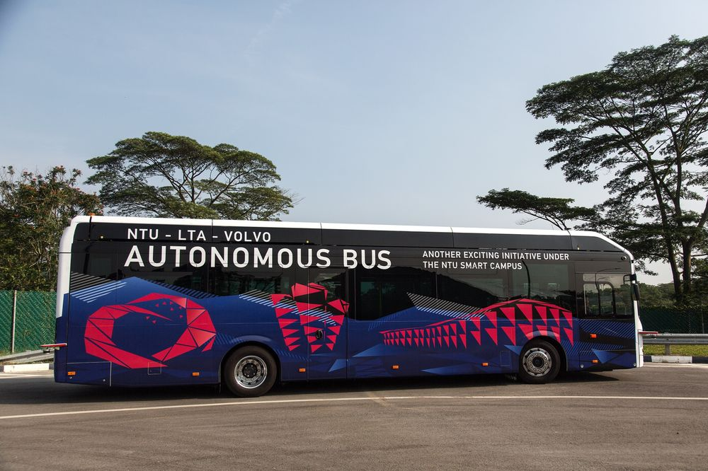 Self Driving Buses Made By Volvo To Hit The Roads In Singapore