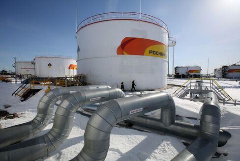 被害に遭ったロスネフチの原油生産施設