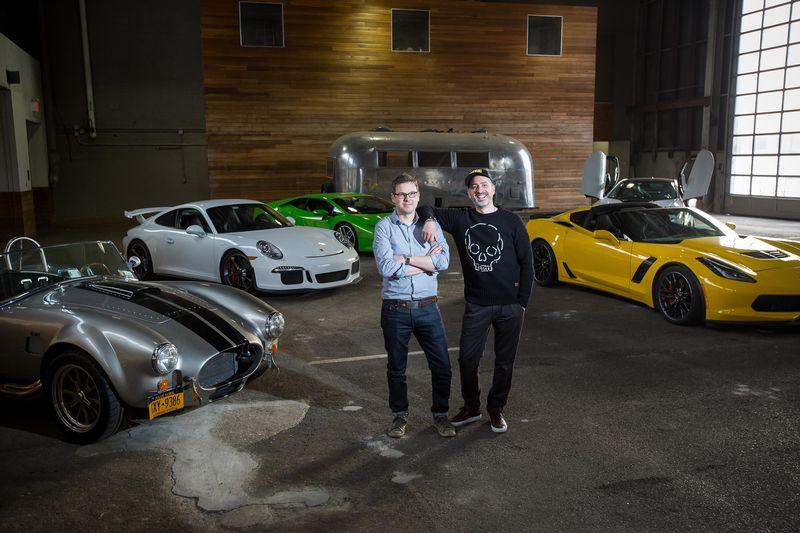 Classic car club manhattan new location at nypd stable pier 57 michael prichinello right zac moseley left and phil kavanagh are sciox Images