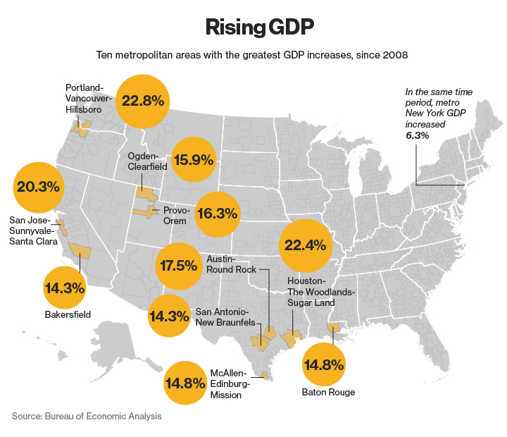 Rising GDP Map