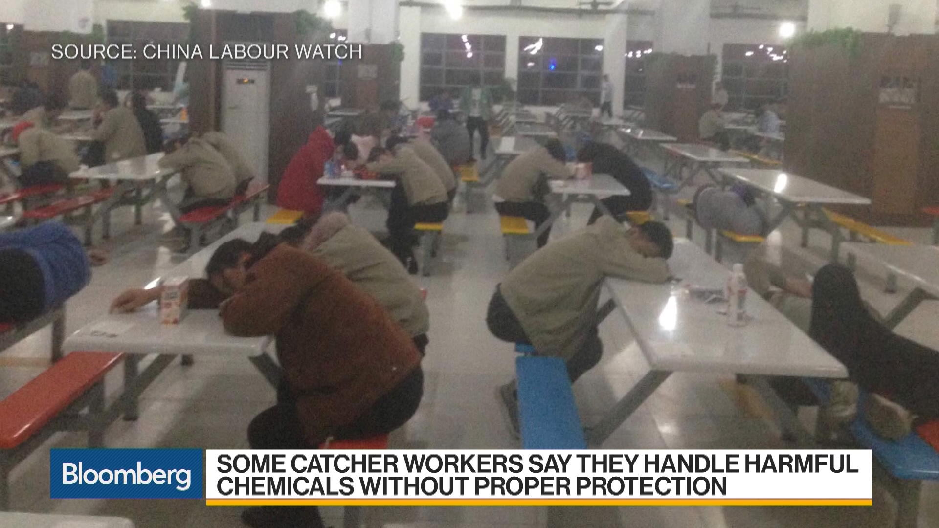 Apple Supplier Workers Describe Noxious Hazards at China