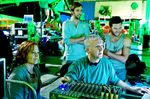James Cameron on set for Avatar in 2009.