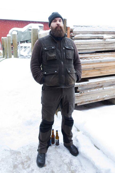Arvid Landgren, owner and head brewer of Tempel Brygghus.