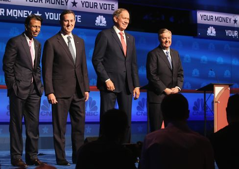 Four Republicans participated in the undercard debate on Oct.28, 2015, in Boulder, Colorado.