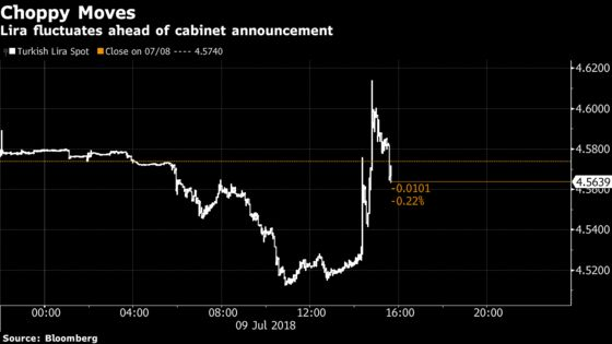 Turkish Assets Fluctuate Ahead of Erdogan's Cabinet Announcement