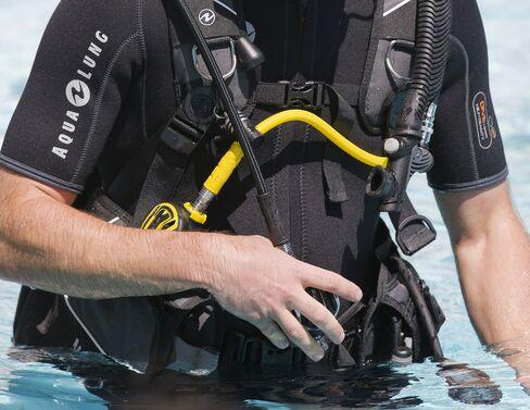 Aqua Lung diving equipment.