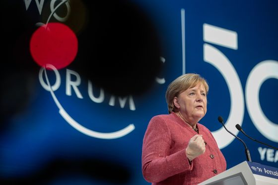 Merkel, Mnuchin Diverge on Generation Thunberg: Davos Update