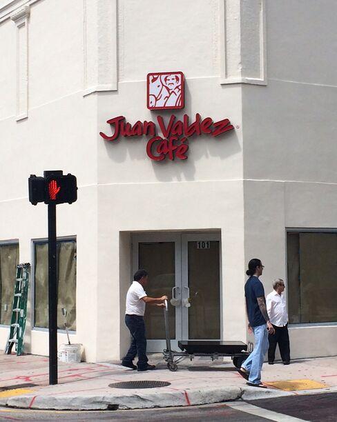 A Juan Valdez Cafe in Miami