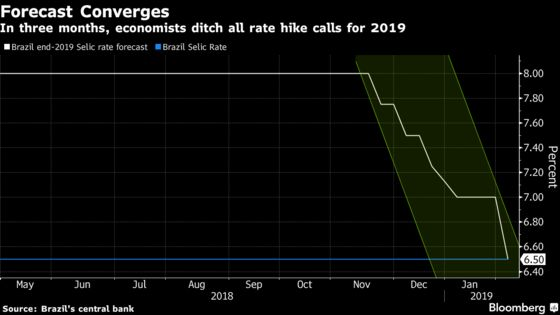 Brazil Economists See Key Rate at All-Time Low Throughout 2019