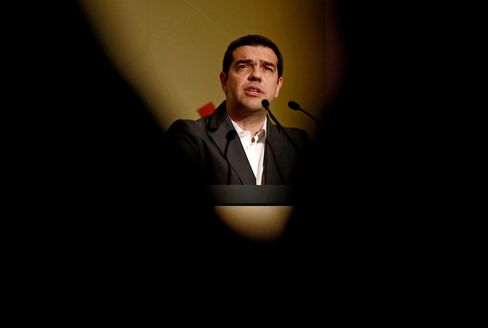 Alexis Tsipras, Greece's prime minister, speaks during an event in Athens, Greece, on Friday, May 15, 2015.