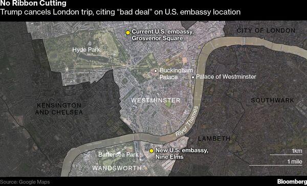 No Ribbon Cutting for Trump at New London Embassy Location Bloomberg
