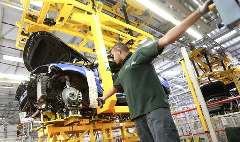 U.K. Range Rover Production Line At Jaguar Land Rover Plant