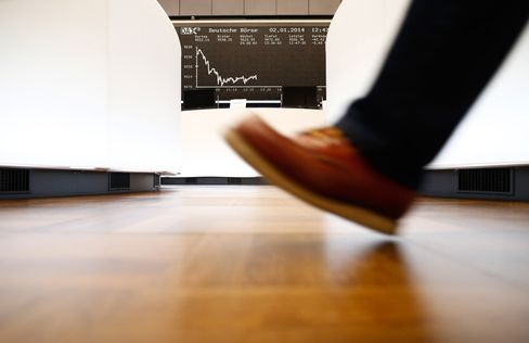 The DAX Index Curve is seen at the Frankfurt Stock Exchange