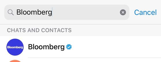 How to Follow Bloomberg on Telegram