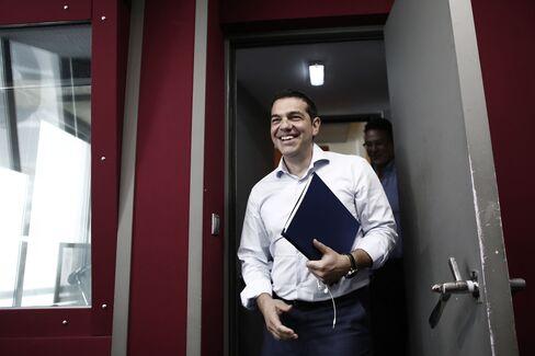 Greek Prime Minister Alexis Tsipras At Sto Kokkino Radio Station