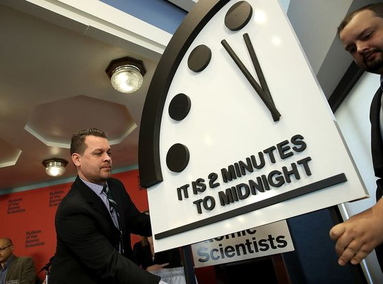 Doomsday Clock Scientists See Dual Risks of Global Annihilation