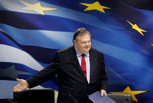 Greek Finance Minister Evangelos Venizelos