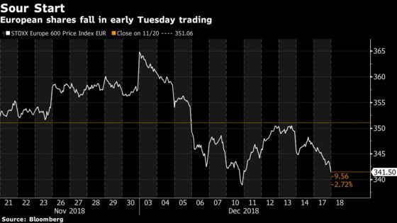Europe's Stocks Fall as Souring Sentiment Lingers in Market