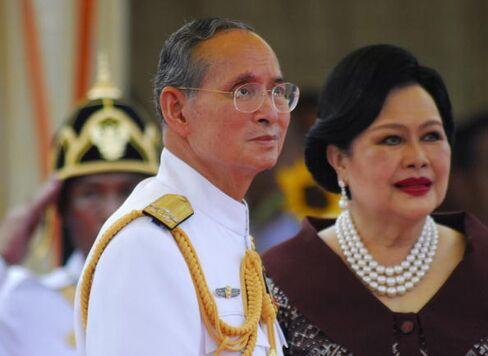 King Bhumibol Adulyadej and his wife Sirikit in April 2007.