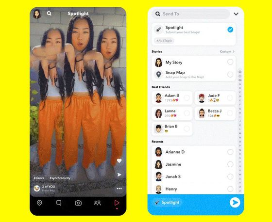 Snap to Pay $1 Million a Day to Creators for Spotlight Videos