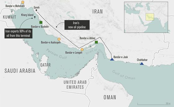 Iran Transfers Oil From Pipeline Skirting Troubled Strait