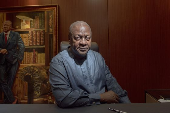 Ghana's Mahama Touts $10 Billion Plan in Race for Presidency