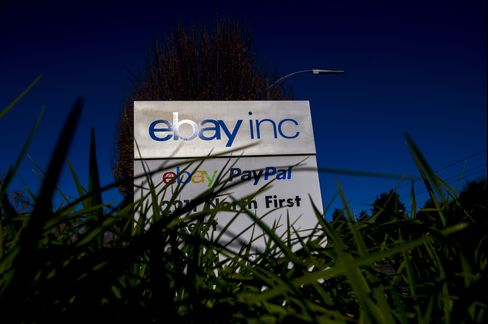 EBay Inc. Signage Stands at the Company Headquarters in San Jose