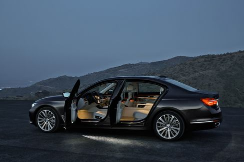 The 7-Series comes with an Executive Package, which allows one seat in the rear to fully recline.