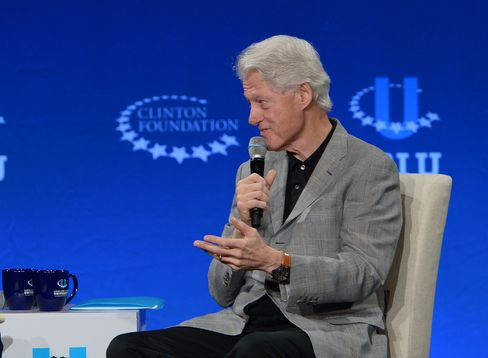 MIAMI, FL - MARCH 07: Former President Bill Clinton speaks at the 2015 Meeting of Clinton Global Initiative University at University of Miami on March 7, 2015 in Miami, Florida. (Photo by Rodrigo Varela/Getty Images)